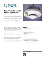 Duct Smoke Detector for Special Applications - SmartHome-Products