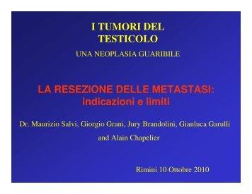 LA RESEZIONE DELLE METASTASI: indicazioni ... - Oncologia Rimini
