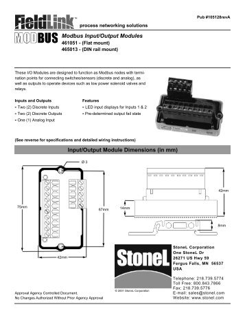 Modbus Input/Output Modules - StoneL