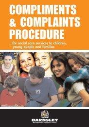compliments & complaints procedure - Barnsley Council Online