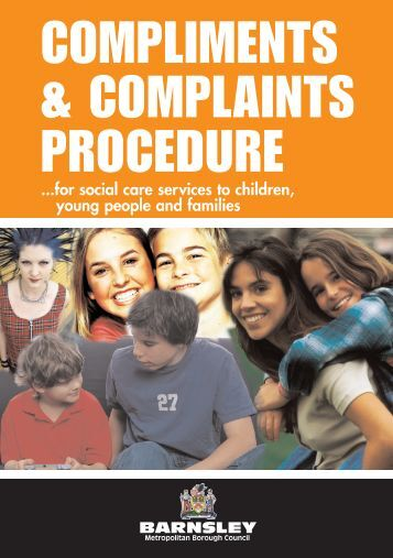 compliments & complaints procedure - Barnsley Council Online