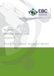 Relatório Estudos Setoriais: Alumínio Prof. Dr. Clésio Lourenço Xavier