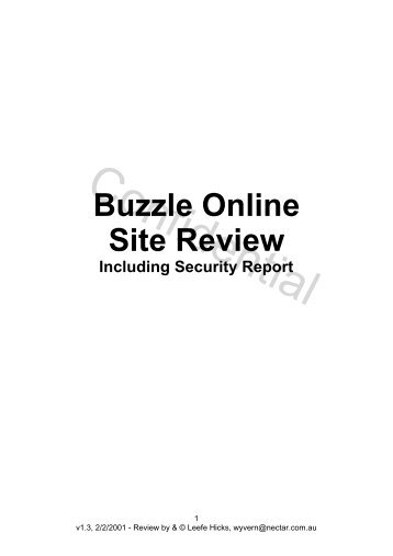 Buzzle Online Site Review Including Security Report