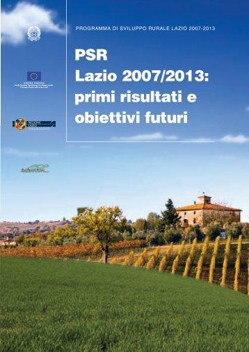 PSR Lazio 2007/2013: primi risultati e obiettivi futuri - Agricoltura ...