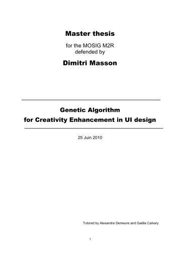 Master thesis Dimitri Masson - IIHM
