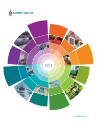 2012 Annual Report - Investor Relations - Sherwin-Williams