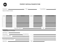PROPERTY DISPOSAL/TRANSFER FORM