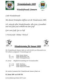 Terminkalender 2009 - Mehr-Hunsrueck.de
