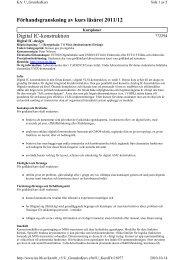 Förhandsgranskning av kurs läsåret 2011/12 Digital ... - Student LTH
