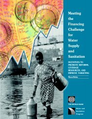 Meeting the Financing Challenge for Water Supply and ... - WSP