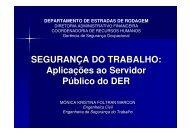 SEGURANÇA DO TRABALHO - DER - Estado do Paraná