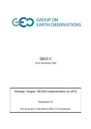 Strategic Targets - Group on Earth Observations