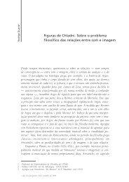 Figuras de Chladni. Sobre o problema filosófico das relações entre ...