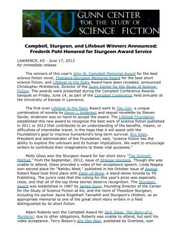 pdf version here - Center for the Study of Science Fiction - University ...