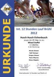 Mixedstaffeln - 12 Stunden Lauf