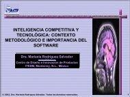 Contexto metodológico de sistemas de inteligencia y características ...