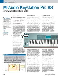 M-Audio Keystation Pro 88 - Music Info