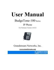 User Manual - Grandstream Networks