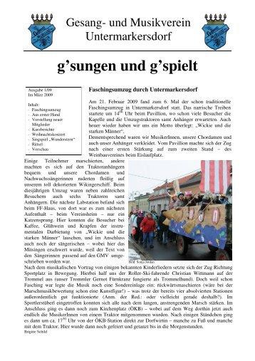Vereinsnachrichten 2009-01 - GMV Untermarkersdorf