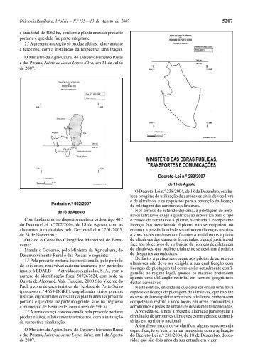 Decreto-Lei n.º 283/2007 - Instituto Nacional de Aviação Civil