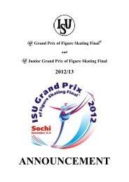 """ISU JUNIOR GRAND PRIX FOR FIGURE SKATING"