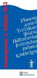 Kursprogramm_WS2013 - Der Club Heiligenhaus