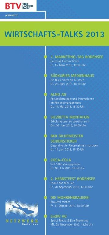 Wirtschafts-talks 2013 - Wirtschaftszeit