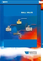 BALL VALVE - Watts Industries