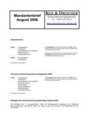 Mandantenbrief August 2006 (PDF) - Keil, Drescher & Muskat