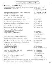 Entwurf bzw Gelbe Seiten.indd - Ev. Trinitatis Kirchengemeinde