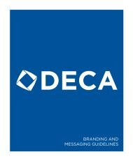BRANDING AND MESSAGING GUIDELINES - California DECA