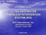 ultra-deepwater deepwater riserless intervention system - Drilling ...