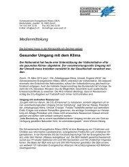 Communiqué - SEA-Arbeitsgemeinschaft Klima, Energie und Umwelt