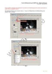 Tutorial: Bildbearbeitung mit GIMP 2.6.6 ... - Ahano.de