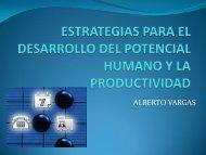 Estrategias para el Desarrollo del Capital Humano y la Productividad