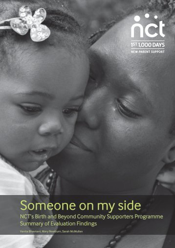 Someone on my side - NCT's Birth and Beyond Community Supporter Programme 2015
