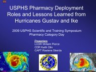 USPHS Pharmacy Deployment Roles and Lessons Learned from ...