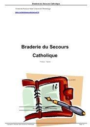Braderie du Secours Catholique - Paroisse Saint Vincent de l ...