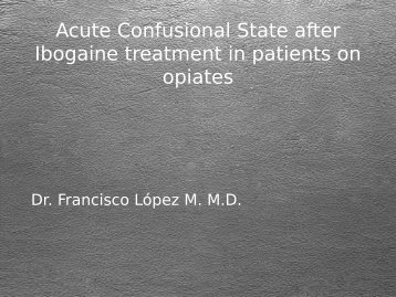 Acute Confusional State after Ibogaine treatment in ... - Puzzle Piece!