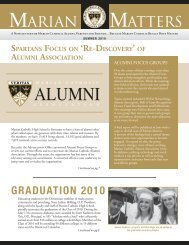 of alumni association - Marian Catholic High School