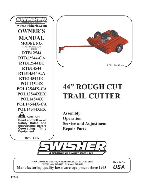 44 Inch Swisher Trail Mower Wiring Diagram    Wiring Diagram