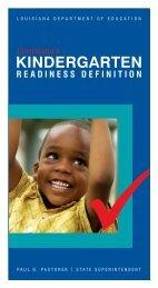 Louisiana's Kindergarten Readiness Definition