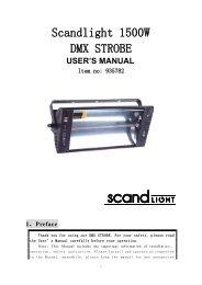 Scandlight 1500W DMX STROBE - Ljudia