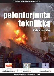 PALOTUTKIMUKSEN PÄIVÄT 2013 - Pelastustieto