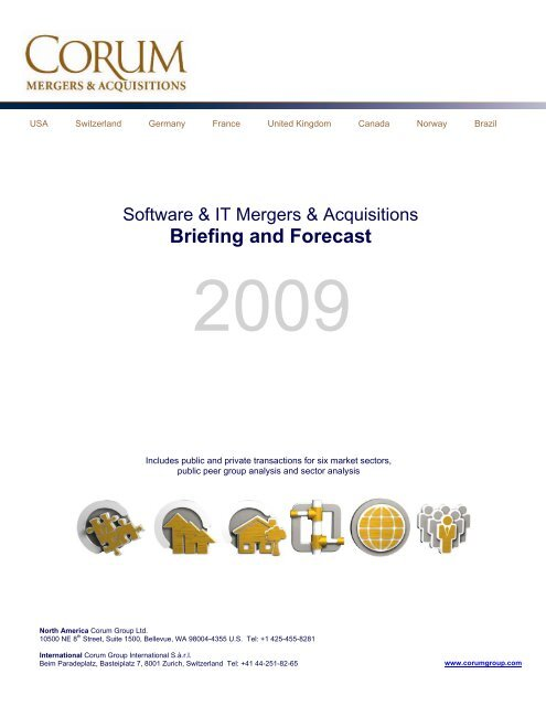 Corum Group Q4 2003 M A Briefing The Corum Group