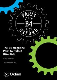 The B4 Magazine Paris to Oxford Bike Ride - B4 Business