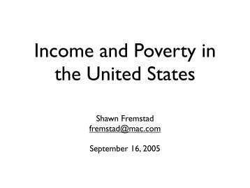 Income Poverty - the Center on Early Adolescence