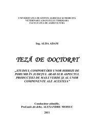 Sinteza tezei (ro) - Universitatea de Stiinte Agricole si Medicina ...