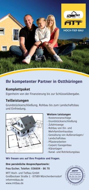Ihr kompetenter Partner in Ostthüringen - MTT Hoch- und Tiefbau ...