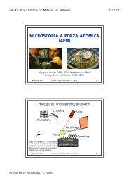 MICROSCOPIA A FORZA ATOMICA (AFM)